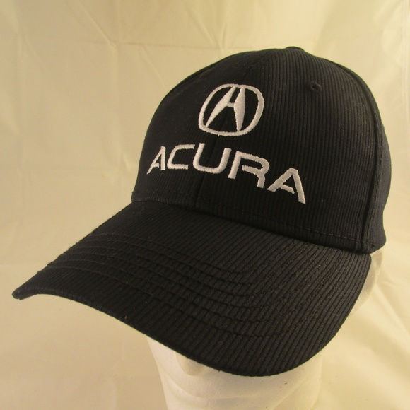 Acura Accessories Cap Black Strapback Hat Embroidered Car Hat - Acura hat